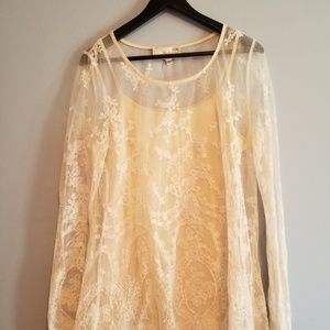 Lace Blouse With Undershirt